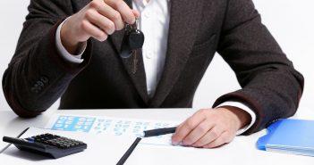 sleutel van lease wagen ontvangen