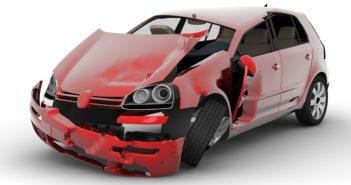 auto met schade na ongeval